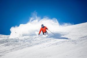 Sölden Tirol Winter Piste Skifahrer ALDI SUISSE TOURS