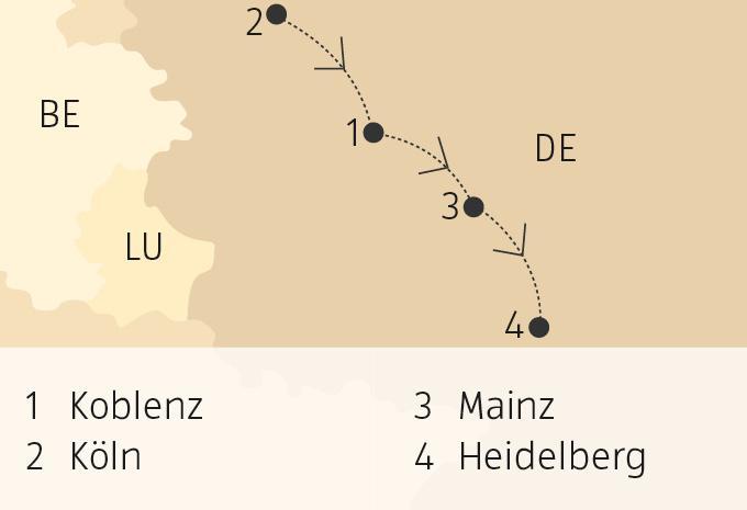 Mosel Karte Mit Allen Orten.Rhein Mosel Flusskreuzfahrt Aldi Suisse Tours