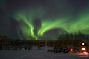 «La magia dell'aurora boreale sul circolo polare artico» - Lapponia svedese